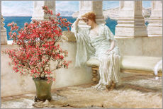 Galleriataulu  Her eyes are with her thoughts and they are far away - Lawrence Alma-Tadema