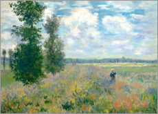 Juliste  The Poppy field - Claude Monet