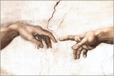 Galleriataulu  The Creation of Adam (detail) - Michelangelo