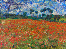 Juliste  Field of poppies, Auvers-sur-Oise - Vincent van Gogh