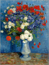 Puutaulu  Vase with Cornflowers and Poppies - Vincent van Gogh