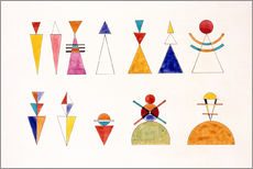 Galleriataulu  Pictures at an Exhibition, figures - Wassily Kandinsky