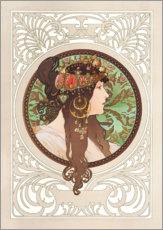 Sisustustarra  Medallion with oriental woman - Alfons Mucha
