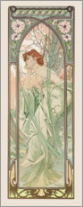Akryylilasitaulu  The evening - Alfons Mucha