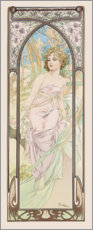 PVC-taulu  Éveil du Matin - The morning - Alfons Mucha