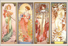 Galleriataulu  The Four Seasons - Alfons Mucha