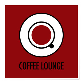 Juliste Coffee lounge, red