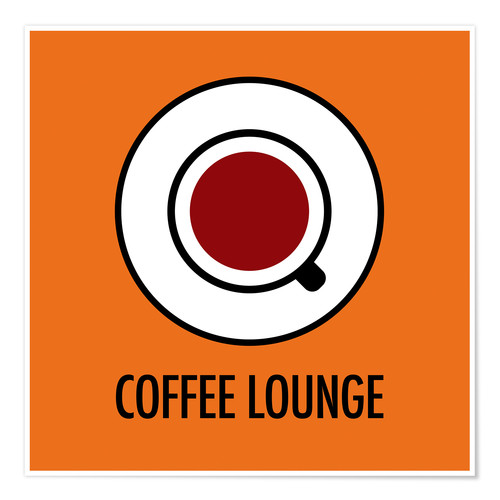 Juliste Coffee Lounge, orange