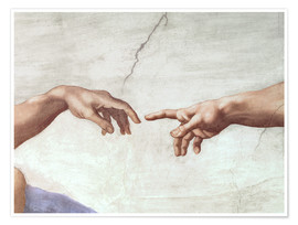 Juliste  The Creation of Adam (detail) - Michelangelo