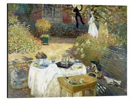 Alumiinitaulu  The Luncheon: Monet's garden at Argenteuil - Claude Monet