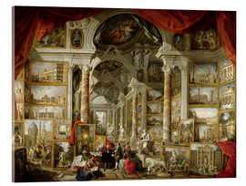 Akryylilasitaulu  Gallery with pictures of Modern Rome - Giovanni Paolo Pannini