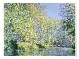 Juliste  Bend in the Epte River near Giverny - Claude Monet