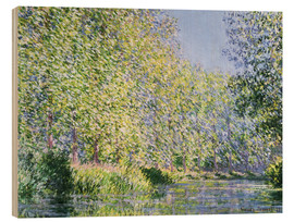 Puutaulu  Bend in the Epte River near Giverny - Claude Monet