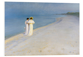 PVC-taulu  Summer Evening on the Skagen Southern Beach with Anna Ancher and Marie Kroyer - Peder Severin Krøyer