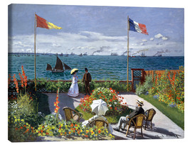 Canvas-taulu  Garden at Sainte-Adresse - Claude Monet
