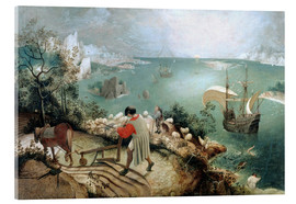 Akryylilasitaulu  Landscape with the fall of Icarus - Pieter Brueghel d.Ä.