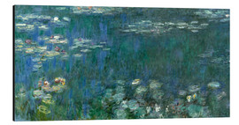 Alumiinitaulu  Waterlilies, Green Reflections - Claude Monet