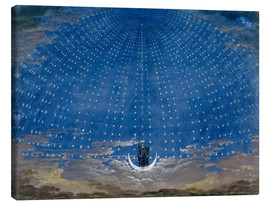 Canvas-taulu  The Palace of the Queen of the Night - Karl Friedrich Schinkel