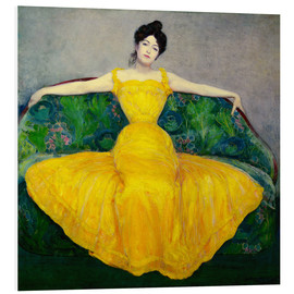 PVC-taulu  Lady in a yellow dress - Maximilian Kurzweil