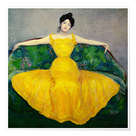 Juliste  Lady in a yellow dress - Maximilian Kurzweil