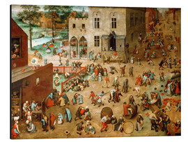 Alumiinitaulu  The children's game - Pieter Brueghel d.Ä.