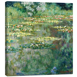 Canvas-taulu  The Waterlily Pond - Claude Monet