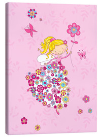 Canvas-taulu  Flower Princess - Fluffy Feelings
