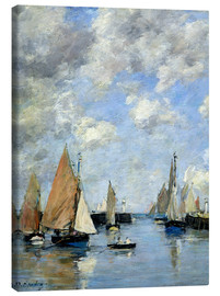 Canvas-taulu  The Jetty at High Tide - Eugène Boudin