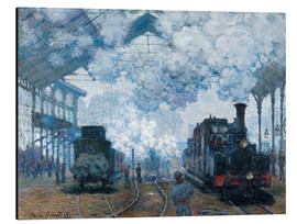 Alumiinitaulu  The Gare Saint-Lazare: Arrival of a Train - Claude Monet