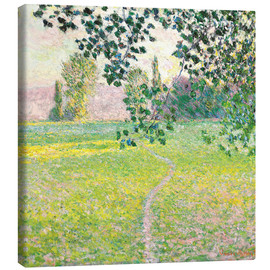 Canvas-taulu  Morning landscape, Giverny - Claude Monet