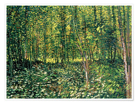 Juliste  Trees and Undergrowth - Vincent van Gogh