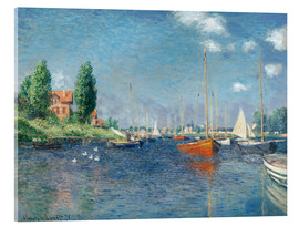 Akryylilasitaulu  Red boats at Argenteuil - Claude Monet