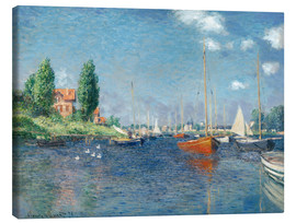 Canvas-taulu  Red boats at Argenteuil - Claude Monet