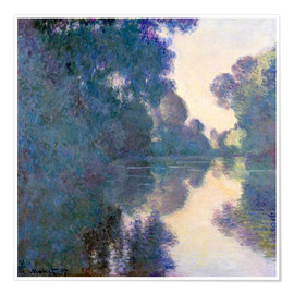 Juliste  Morning on the Seine - Claude Monet