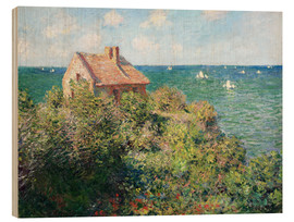 Puutaulu  Fisherman's Cottage on the Cliffs at Varengeville - Claude Monet