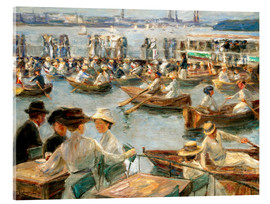Akryylilasitaulu  By the Alster River - Max Liebermann