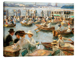 Canvas-taulu  By the Alster River - Max Liebermann