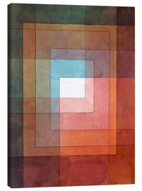 Canvas-taulu  White framed polyphonically - Paul Klee