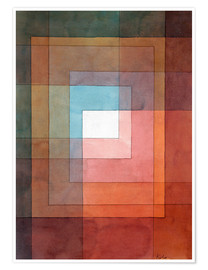 Juliste  White framed polyphonically - Paul Klee