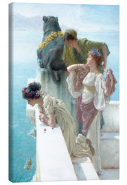 Canvas-taulu  Coigne of vantage - Lawrence Alma-Tadema