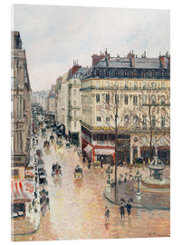 Akryylilasitaulu  The Rue Saint-Honoré in the afternoon - Camille Pissarro