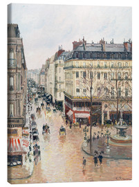 Canvas-taulu  The Rue Saint-Honoré in the afternoon - Camille Pissarro