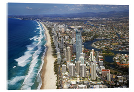 Akryylilasitaulu  Surfer's Paradise from the air - David Wall
