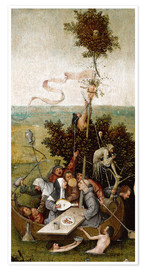 Juliste  The ship of fools - Hieronymus Bosch