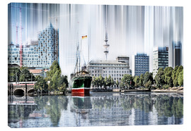 Canvas-taulu  Hamburg Germany World Skyline - Städtecollagen