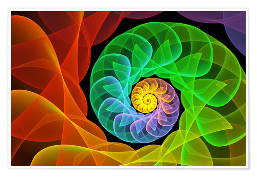 Juliste Fractal 'The colors and the light'