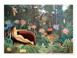 Juliste  The dream - Henri Rousseau