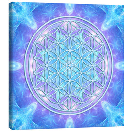 Canvas-taulu  Flower of Life - Dolphin Awareness - Dolphins DreamDesign