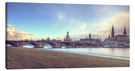 Canvas-taulu  Dresden, as viewed by Canaletto earlier - Steffen Gierok