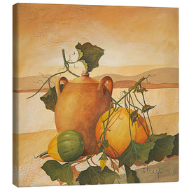 Canvas-taulu  Pumpkins and terracotta - Franz Heigl